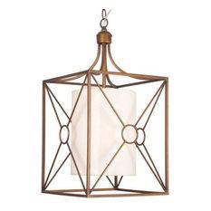 Top copper chandeliers deals houzz highlight josie antique copper iron chandelier with fabric shade chandeliers aloadofball Gallery