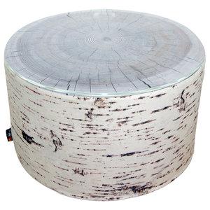 Tree Stump Heavyweight Outdoor Pouffe/Coffee Table, Birch