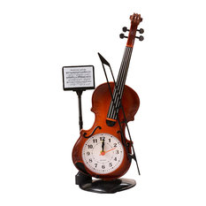 Creative Alarm Clock, Fashion Wake Up Alarm Clock, Violin 02