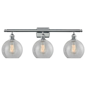 Athens 3 Light Bathroom Vanity Light in Polished Chrome