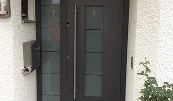 Sicherheits-Haustür mit Fingerscan