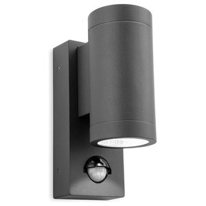 Shelby Double LED Outdoor Wall Light With PIR