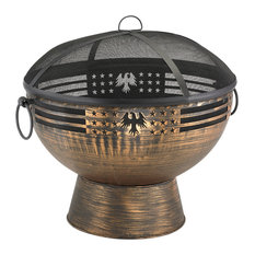 Good Directions, Inc. - Oversized Eagle Fire Bowl With Spark Screen - Fire Pits