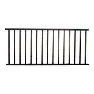 6 X36 Quot Hammered Black Aluminum Stair Railing Kit Curved