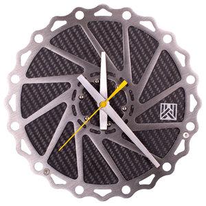 Braketime Mountain Bike Rotor Clock, Stainless Matte