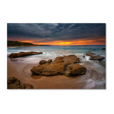 'Beach at Sunset 5' Canvas Art by Lincoln Harrison