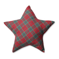 Red / Green Plaid Star Pillow