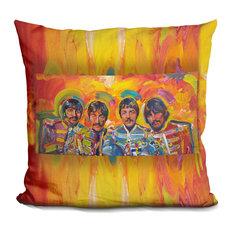 Lilipi - Beatles Sgt-Peppers Decorative Accent Throw Pillow - Decorative Pillows