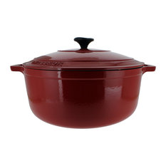 Chasseur 7.1-quart French Enameled Cast Iron Round Dutch Oven, Red