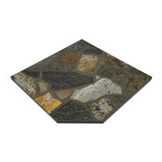 """NY Hearth 24""""x32"""" Idaho Mica Stone Hearth Pad, Corner"""