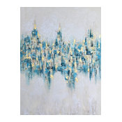 """Abstract Glistening Lights"" Abstract Art Oil Painting Print on Wrapped Canvas"
