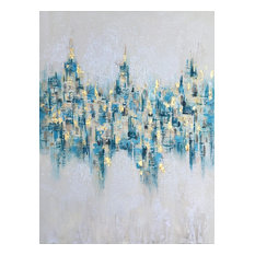 """""""Abstract Glistening Lights"""" Abstract Art Oil Painting Print on Wrapped Canvas"""