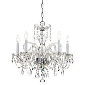 """Chandelier 5-Light With Polished Chrome,22"""""""