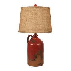Firebrick 1 Handled Pottery Jug Table Lamp