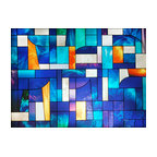 Abstract Stained Glass Window Film
