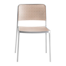 Kartell Audrey Chairs, Set of 2, Aluminum/Sand