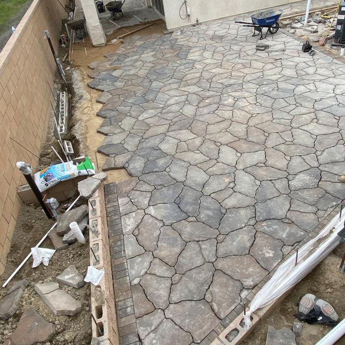 Stamped Concrete, Walk ways, Paths , Pavers