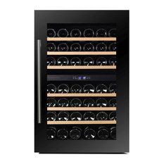 Dunavox 42 Bottle Fully Integrated Dual Zone Wine Fridge, Black