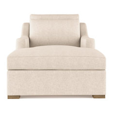 Crosby Plush Velvet Chaise Oyster