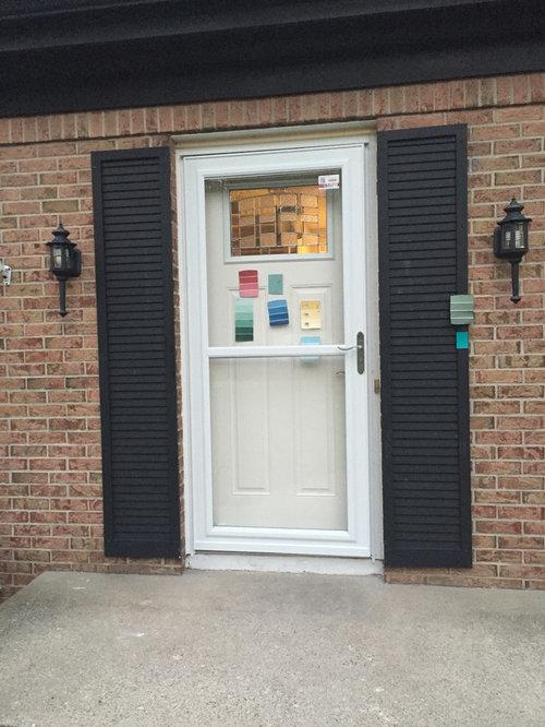 Brick House Black Shutters What Color Door