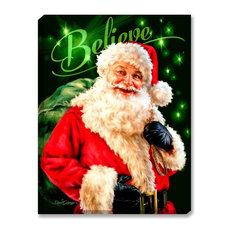 I Believe in Santa Wall Art by Dona Gelsigner