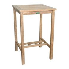 """27"""" Avalon Square Bar Table, Grade A Teak"""