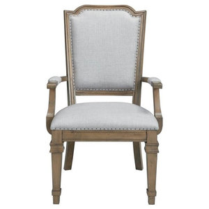 Donny Osmond Vintage Dining Arm Chair with Tack Trim, Set of 2