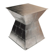 Modernist Silver Stool/Accent Table Cape