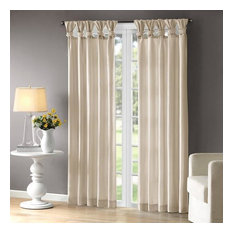 Madison Park Twist Tab Lined Window Curtain With Champagne Finish WIN40-116