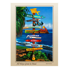 Poster 'All Ways Great in Maui'
