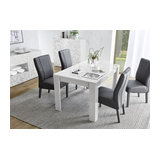 Prisma (white) extending dining table