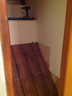 Odd Shaped Closet Over Basement Stairs Wondering How To
