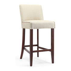 1st Avenue Monterey Gray Upholstered Bar Stool Dark Wood Base Stools And