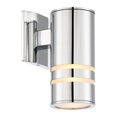 50 most popular contemporary outdoor wall lights and sconces for revel revel rockwell 85 modern outdoor wall sconce matte black chrome aloadofball Choice Image