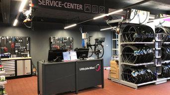 Shopbeleuchtung bei Little John Bikes Filiale in Cottbus