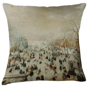 Velvet Tableau Cushion, Skating