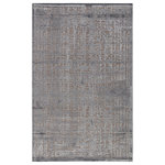 """Jaipur - Jaipur Living Dreamy Abstract Gray/Silver Area Rug, 8'10""""x11'9"""" - Soft to the touch and alluring with a distinctive high-low texture, this chenille area rug lends the perfect accent to bedrooms. A modern cross-hatched pattern adds dimensional appeal to this chic and lustrous tone-on-tone gray layer."""