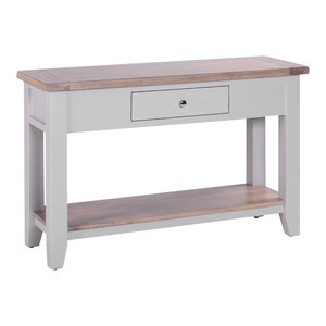 1-Drawer Console Table, Light Grey
