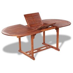 vidaXL Outdoor Extendable Dining Table, Acacia Wood