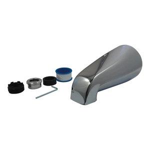 Polished Chrome Kingston Brass K1230A1 5-1//8-Inch Slip-On Zinc Tub Spout Without Diverter