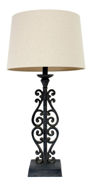 Faux distressed iron table lamp mediterranean table lamps by faux distressed iron table lamp mozeypictures Choice Image