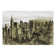 New York Midtown 78 by Peter Potter Art Print, Size 24x16