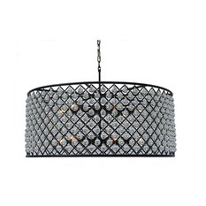 Extra large chandeliers houzz lightupmyhome cassiel round drum crystal chandelier extra large black chandeliers aloadofball Image collections