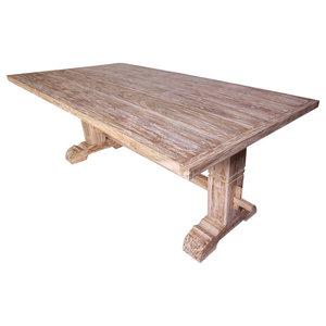 VidaXL 244001 Massive Dining Table, Teak, 200x100x75 cm