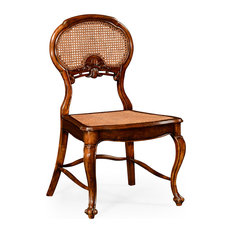 French Style Salon Chair With Caned Back Side by Jonathan Charles Fine Furniture
