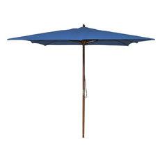 Jordan Manufacturing 8.5' Square Wooden Umbrella, Royal