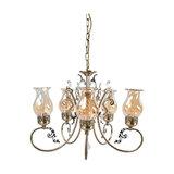 Heti 5-Light Pendant, Antique Brass