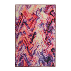 Prismatic Wavelength Area Rug, Purple, 5x8