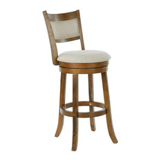 Swivel Stool 30 With Solid Back, Burnt Brown