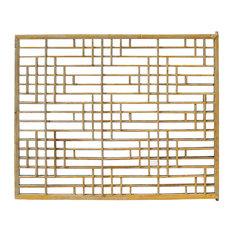 Consigned Vintage Restored Oriental Zen Geometric Wood Wall Panel